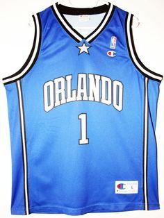 Champion NBA Basketball Orlando Magic #1 Tracy McGrady Trikot/Jersey Size 44 - Größe L - 69,90€ #nba #basketball #trikot #jersey #ebay #sport #fitness #fanartikel #merchandise #usa #america #fashion #mode #collectable #memorabilia #allbigeverything