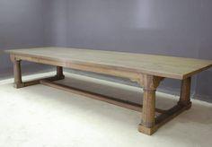 Refectory Four Column Dining Table