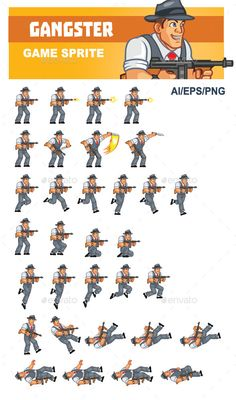 Black Ninja Game Sprites Sprite, Game character design