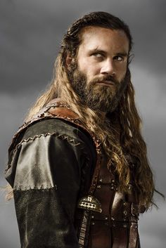 Rollo (Clive Standen) - Vikings. Note the detailed stitching on his tunic.