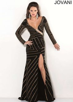 plunging neckline floor length dress - Google Search