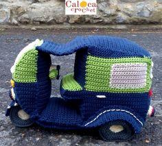 Patrón Tuc Tuc calesa amigurumi. Por Caloca Crochet