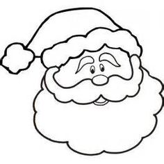 Free Printable Santa Face Santa Face Coloring Page Wood carving
