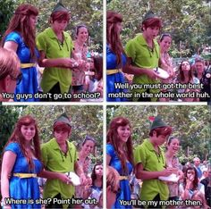 Peter Pan on Homeschooling! See??? Even he knows its better than school!