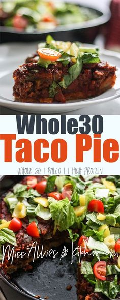 Whole30 Taco Skillet Pie