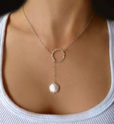 Pearl Lariet Necklace