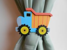 Dump Truck Curtain Tie Backs - Nursery Decor - Baby Boy Nursery - Trucks - Construction Transportation Baby Boys, Baby Boy Rooms, Baby Boy Nurseries, Big Boy Bedrooms, Kids Bedroom, Construction Nursery, Construction Theme, Transportation Room, Truck Bedroom