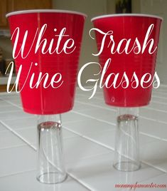 Cool white trash gift ideas that you'll love. Includes white trash wine glasses, candy infused vodka, and even a white trash cookbook! Redneck Birthday, Redneck Party, Hillbilly Party, Birthday Bash, White Trash Wedding, White Trash Party, White Trash Costume, White Party Foods, Redneck Costume