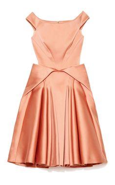 Stretch Duchess Juliette Dress by Zac Posen for Preorder on Moda Operandi