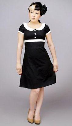 Dolly Black Pin Up Style Dress Heartbreaker Dress at Retro Vixens Dolly Dress, Mod Dress, Retro Dress, Vintage Style Dresses, Lovely Dresses, Amazing Dresses, Elegant Dresses, Vintage Outfits, Rockabilly Fashion