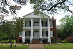 Beautiful Rosalie Mansion of Natchez, Mississippi, is owned by the Mississippi Daughters of the American Revolution.