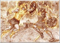 Achilles Battles Hector