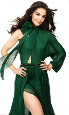 Katie Holmes for InStyle Magazine - August 2011 Ruffled Dresses #2dayslook #RuffledDresses #watsonlucy723 www.2dayslook.com