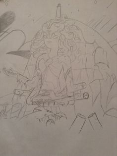 This is a pic I drew of the Steven universe fusion temple Steven universe is like my tv life