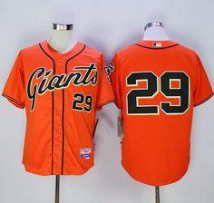 Giants #29 Jeff Samardzija Orange Alternate Cool Base Stitched MLB Jersey