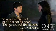 It's snow not Mary Margaret get it right