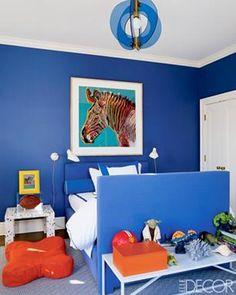Blue And Orange Blue Rooms, Blue Bedroom, Blue Walls, Kids Bedroom, Kids