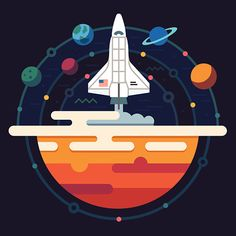 Clipart vectoriel : Space illustration