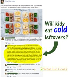 Will kids eat cold leftovers? And more about packing hot/cold food in their lunch boxes.