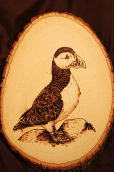 Puffin Wood Burning