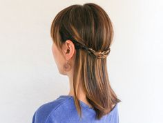 3 Chic Half-Up Hairstyles with One Easy Technique | http://hellonatural.co/3-half-up-hair-dos/