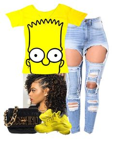"""""""Bart Simpson"""" by kenni35 on Polyvore featuring Moschino and NIKE"""