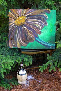 Gerbera Daisy  Painting