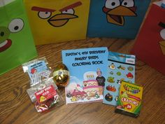 Favors from an Angry BIrds party #angrybirds #partyfavors