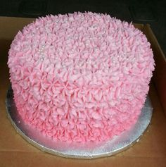 Pink ombre birthday cake by Amber's Cake Lair