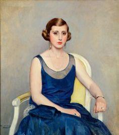 Retrato de Glòria Codina de Riera (1929). Ramón Casas i Carbó (1866-1932). Museo del Modernismo de Barcelona, España.