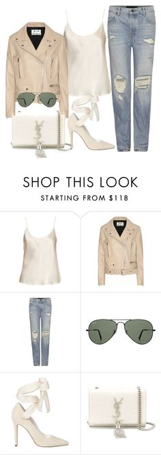 """""""Untitled #2398"""" by camila-echi ❤ liked on Polyvore featuring La Perla, Acne Studios, Alexander Wang, Ray-Ban, Alice + Olivia and Yves Saint Laurent"""
