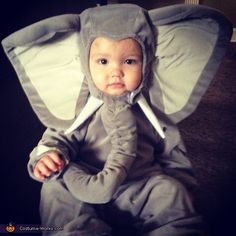 Brody's the Worlds Cutest Elephant! - Halloween Costume Contest via @costumeworks