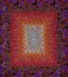 Blooming Nine-Patch with Kaffe Fassett prints
