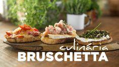 Que tal estas três versões de bruschetta: tomate cereja com queijo, presunto parma com brie e mel e tapenade de azeitonas com queijo de cabra, para encantar ...