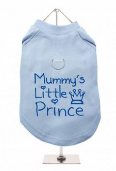 """Mummys Little Prince"" Harness-Lined Dog T-Shirt"