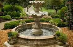 Beautiful water fountain statue by Classic Pool & Patio.