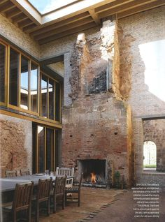 Astley Castle, winner of 2013 RIBA Award (First Restoration to win) Designed by Witherford Watson Mann Architects