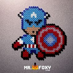 Captain America perler beads by Mr. Foxy Store