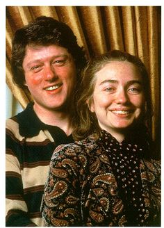 U.S. Young Bill and Hillary Clinton, 1960s. Who would have thought it...