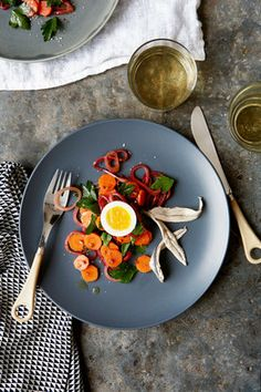 Chef Matt Dillon's White Anchovies With Pickled Spring Carrots and a Six-Minute Egg