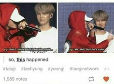 Yoongi couldn't control his feels