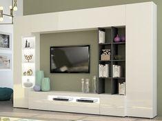 Modern Italian Wall Unit EGO | White & Graphite - $1,895
