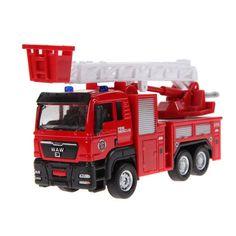 1pcs 1:55 Sliding Alloy Car Truck Model Children Toys Fire Engine for Baby Chirstmas Birthday Gift