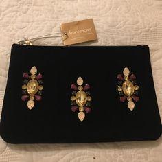 Francesca's velvet pouch stones (Navy) New Francesca's Collections Bags Mini Bags