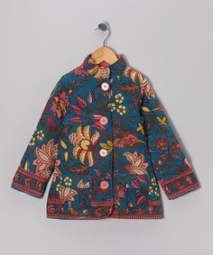 $20. Take a look at this Blue Floral Jacket - Toddler & Girls by Yo Baby on #zulily today!