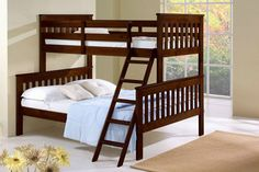 TWIN over FULL BUNK BED-Cappuccino bunkbeds beds $419