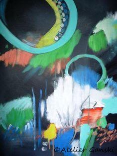 Atelier Ganski - Handgemaltes Original, Acrylfarben, 50 x 60 cm Artworks, Painting, Atelier, Abstract, Kunst, Painting Art, Paintings, Painted Canvas, Drawings