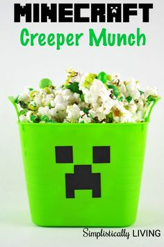 Minecraft Creeper Munch Simplistically Living