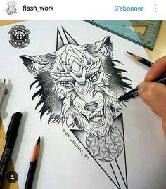 Wolf Tattoos, Animal Tattoos, Body Art Tattoos, Ankle Tattoos, Clever Tattoos, Trendy Tattoos, Unique Tattoos, Tattoos For Guys, Wolf Tattoo Design