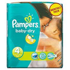 Pampers - Baby Dry - Couches Taille 4 Maxi (7-18 kg) - Pack économique 1 mois de consommation x174 couches Pampers http://www.amazon.fr/dp/B00AR9HWZ0/ref=cm_sw_r_pi_dp_aF2vvb0QZVMDA